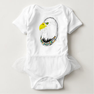 Eagle Ink Drawing Baby Bodysuit