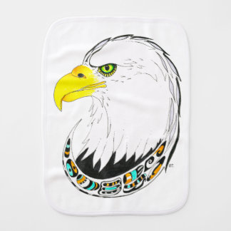 Eagle Ink Drawing Burp Cloth