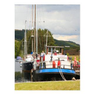 Eagle Inn pub barge, Scotland 2 Postcard