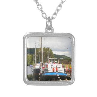 Eagle Inn pub barge, Scotland 2 Silver Plated Necklace
