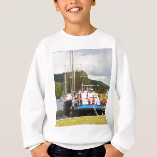 Eagle Inn pub barge, Scotland 2 Sweatshirt