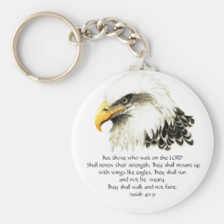 Eagle - Inspirational - Scripture - They that wait Key Ring