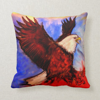 """Eagle - It's About America"" - by Debi Blount Cushions"