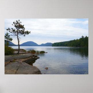 Eagle Lake at Acadia National Park Poster