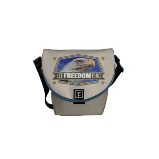 Eagle-Let Freedom Ring Courier Bag
