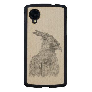 Eagle, long crested eagle carved® maple nexus 5 slim case