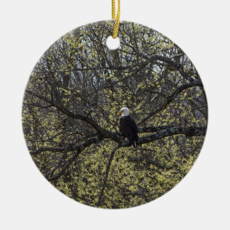 Eagle Lookout Painterly Ceramic Ornament