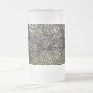 Eagle Lookout Painterly Frosted Glass Beer Mug