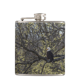 Eagle Lookout Painterly Hip Flask