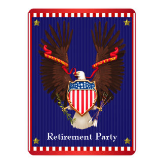 Eagle Military Retirement Party Card