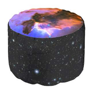 Eagle Nebula, M16 astronomy outer space image Round Pouf