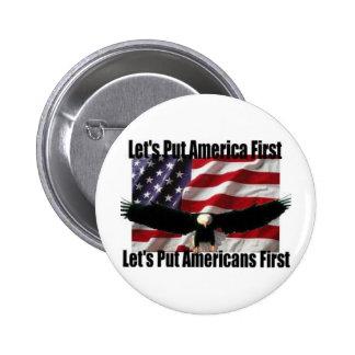eagle on a flag button