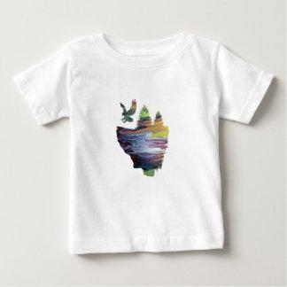 Eagle on floating island baby T-Shirt