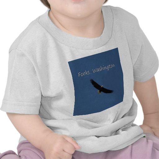 Eagle over Forks, Washington T Shirts