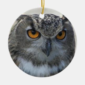 Eagle Owl Ceramic Ornament