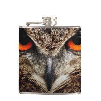 Eagle Owl Hip Flask