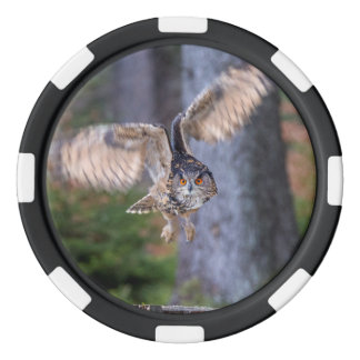 Eagle Owl Hunting Poker Chips