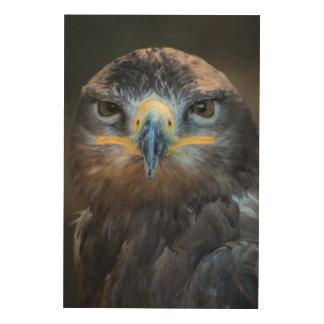 Eagle Portrait Wood Wall Art