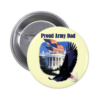 Eagle Proud Army Dad Tshirts and Gifts Button