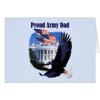 Eagle Proud Army Dad Tshirts and Gifts Card