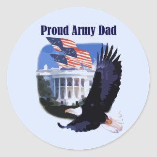 Eagle Proud Army Dad Tshirts and Gifts Sticker