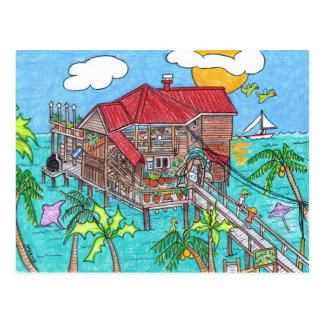 Eagle Ray's Bar and Grill postcard