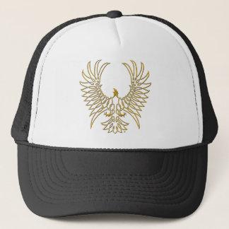 eagle rising, gold trucker hat