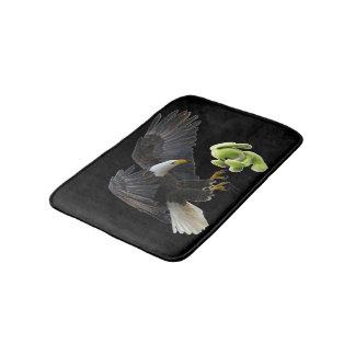 Eagle scares to a teddy bath mat