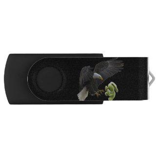 Eagle scares to a teddy USB flash drive