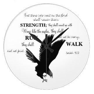 Eagle Scripture Clock