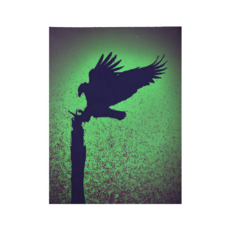 Eagle silhouette wood poster
