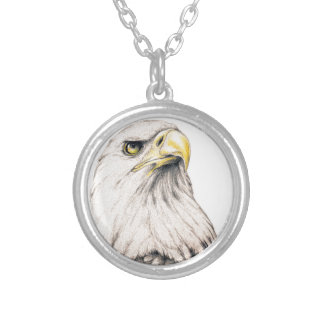 Eagle Silver Plated Necklace