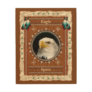 Eagle -Spirit- Wood Canvas