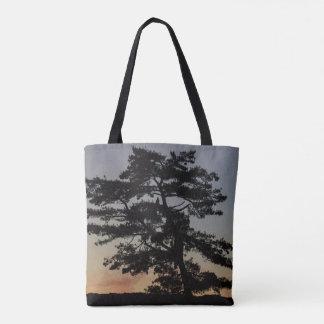 Eagle Sunset Tree Tote Bag