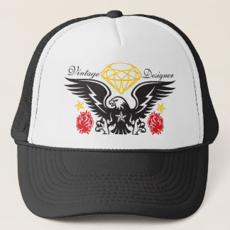Eagle Tattoo  Diamonds and Roses Vintage Desi Trucker Hat