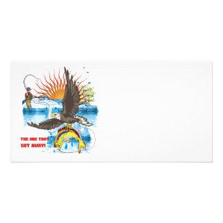 Eagle-Thief-3-Text-2 Photo Greeting Card