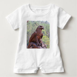 Eagle totem carving, Portugal 2 Baby Bodysuit