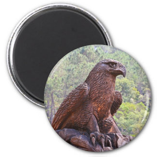 Eagle totem carving, Portugal 2 Magnet