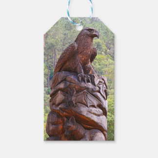Eagle totem carving, Portugal Gift Tags