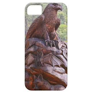 Eagle totem carving, Portugal iPhone 5 Case