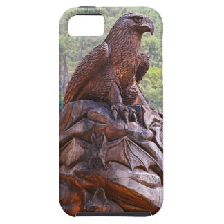 Eagle totem carving, Portugal iPhone 5 Cover