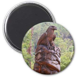 Eagle totem carving, Portugal Magnet