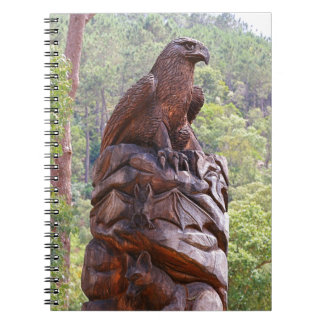 Eagle totem carving, Portugal Notebook