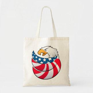Eagle USA flag power American Budget Tote Bag