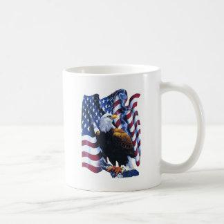 Eagle with American flag Coffee Mug