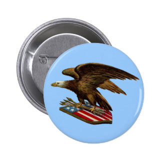 Eagle with Arrows on Shield Button
