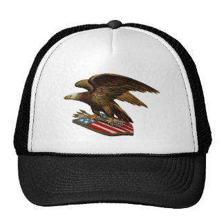 Eagle with Arrows on Shield Mesh Hats
