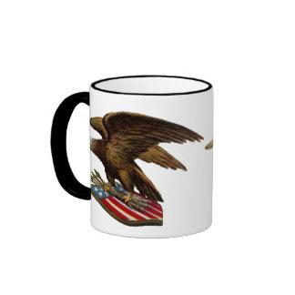 Eagle with Arrows on Shield Coffee Mugs