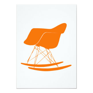 Eames molded plastic rocking chair 13 cm x 18 cm invitation card