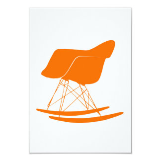 Eames molded plastic rocking chair personalized invitation
